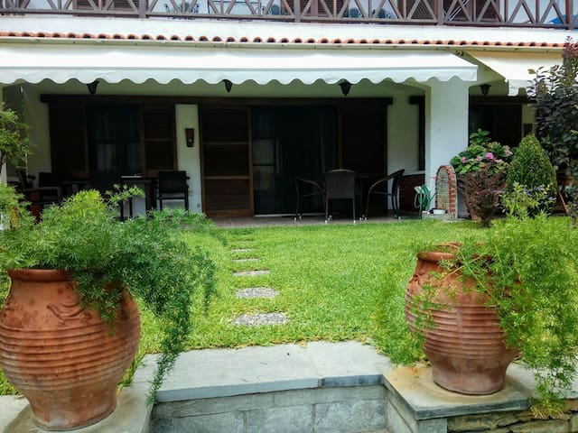 Our summer villa, 50 metres from the sea:)