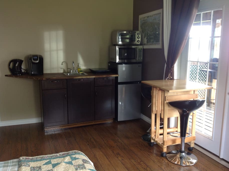 Fully equipped kitchenette in large main bedroom.