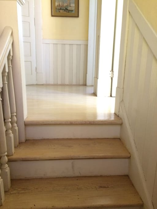 Stairs to top of duplex