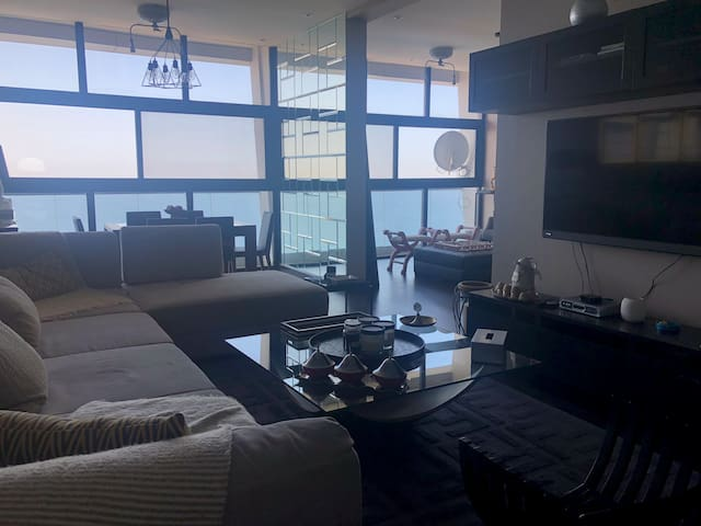 Spacious two bedroom apartment with great sea view