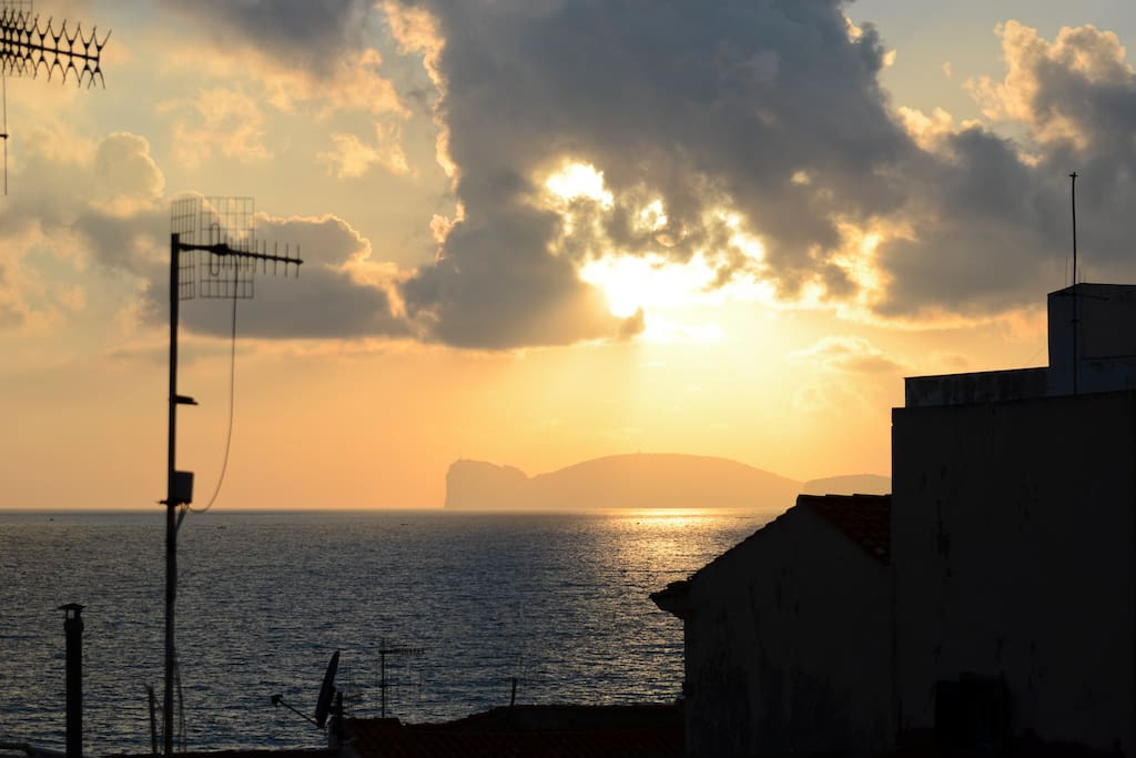 sunset on capo caccia - moving each time