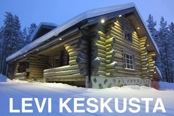 Log Cabin with sauna *LEVI Center *VIP Rakka 7 & 8