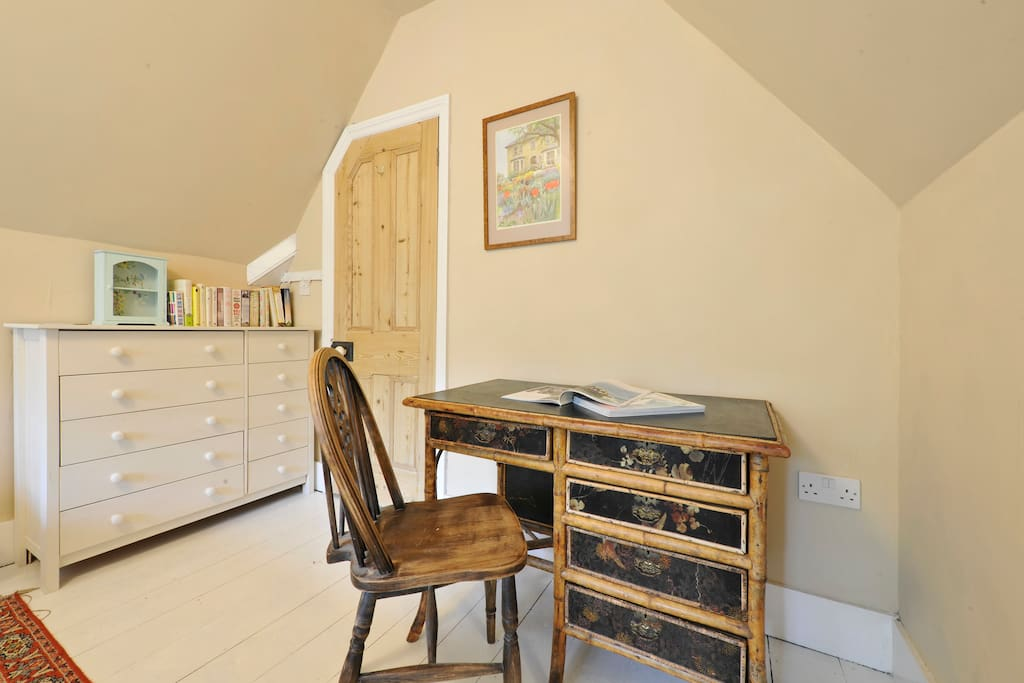 Vintage chinoiserie desk and chest of drawers
