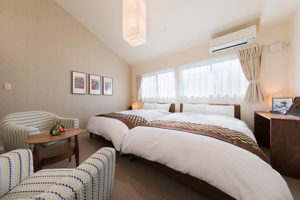 Bright and stylish room