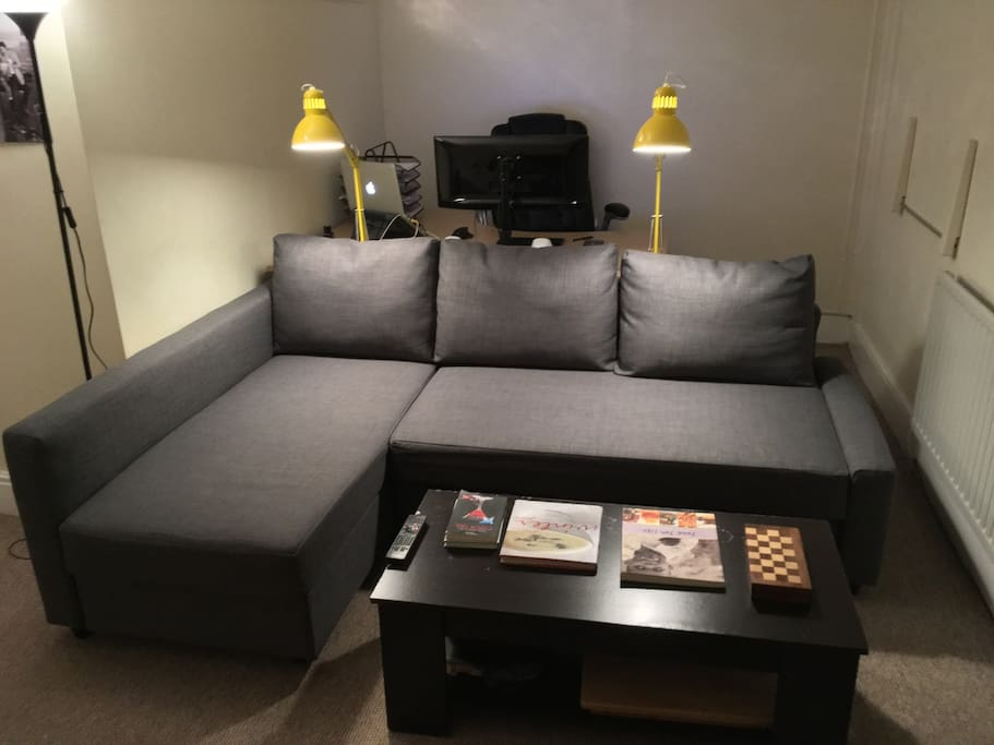 L-Shaped 3 seater sofa bed