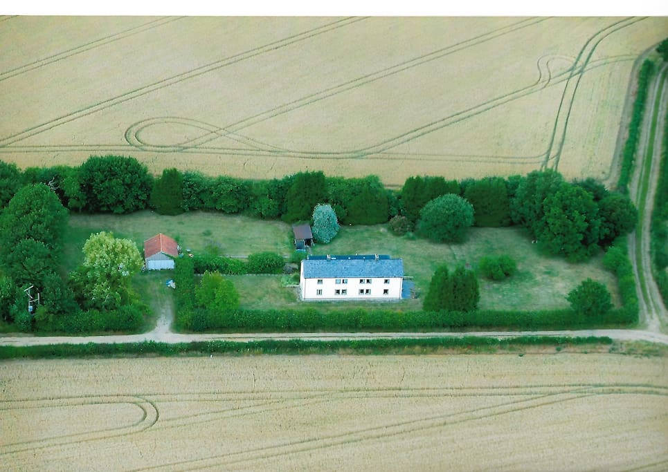 Aerial view from south
