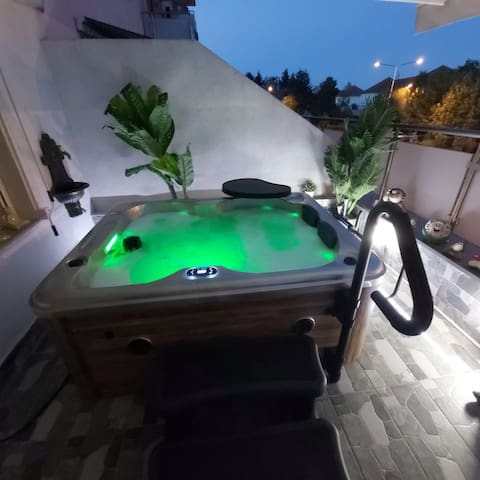 Smart house and spa on balcony! All voice  control