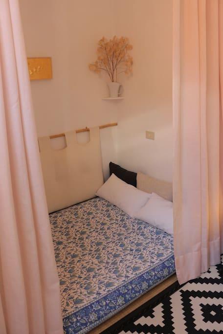 futon in cotone biologico dimensione piazza e mezza francese su tatami