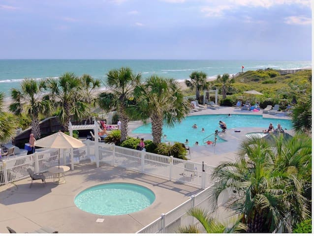 Ocean Club Resort - Oceanfront, Pool front with heated pool. Sound side pier