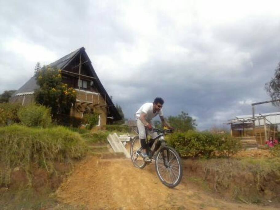 espacio para los amantes de la  bicicleta