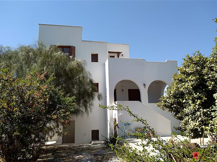 Cycladic Villa with Sea View and Garden