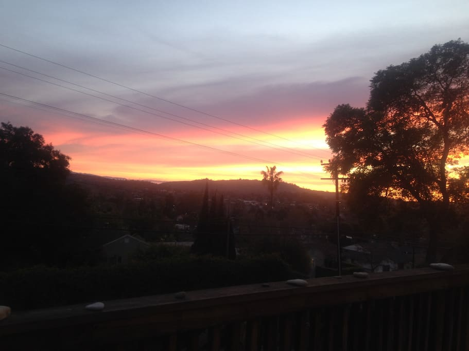Sunset From The Back Deck