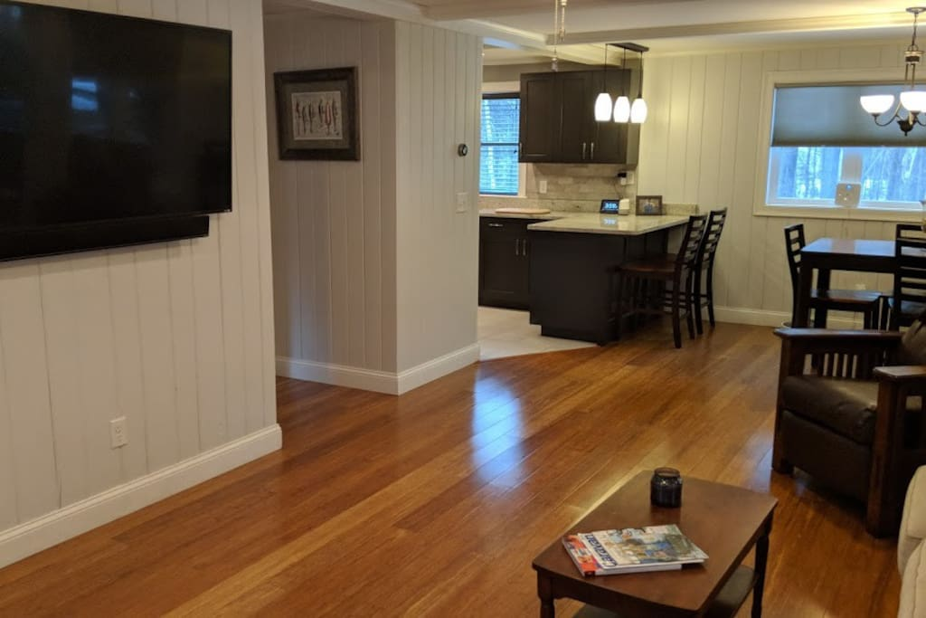 Open concept living room and dining room