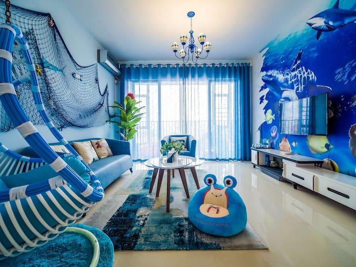 【彩虹小筑】近珠海长隆海洋王国海洋主题&海豚企鹅童趣亲子三房两厅