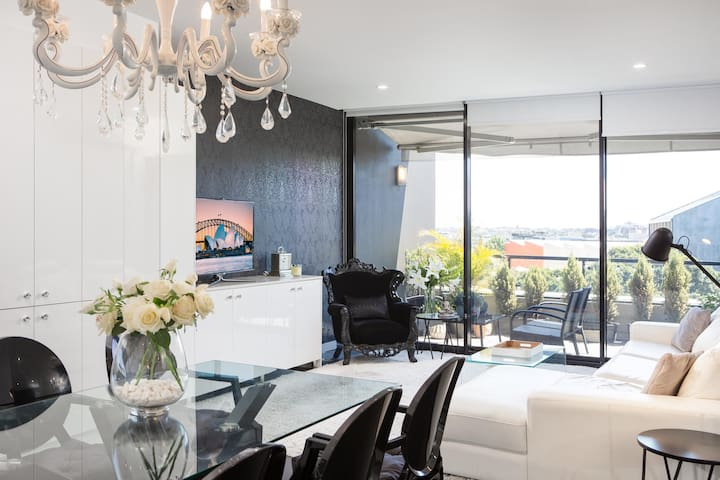 Designer Apartment With Parking and Rooftop Terrace