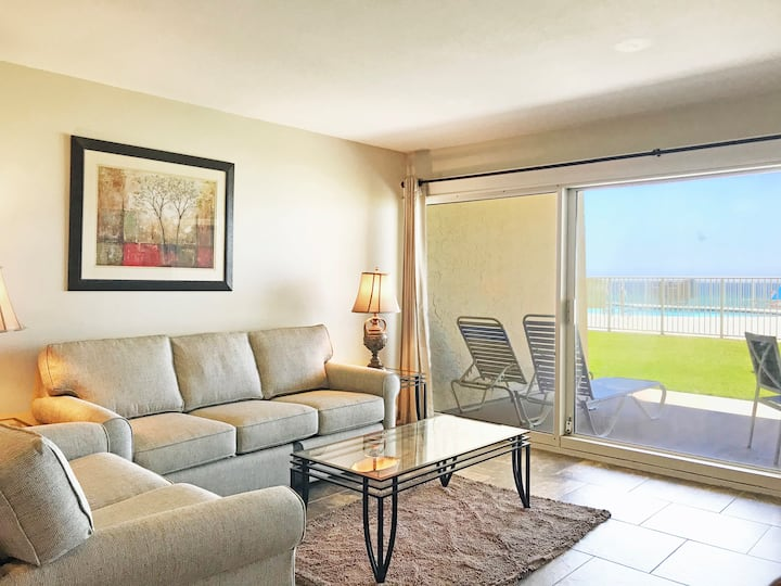 C103 First floor condo located on the beach!