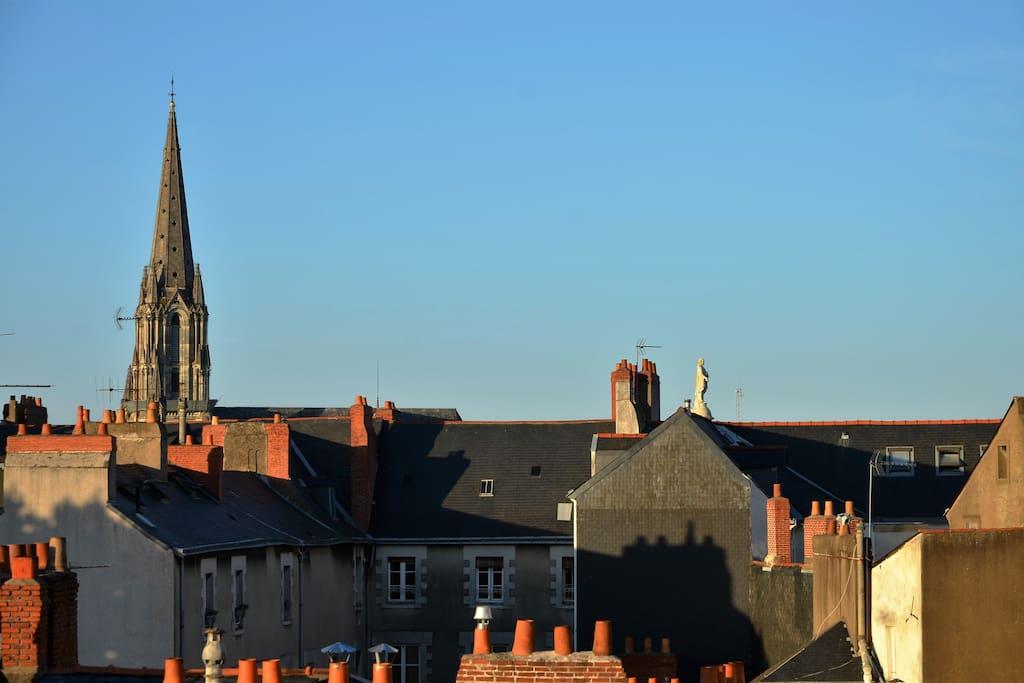 Vue sur les toits de Nantes