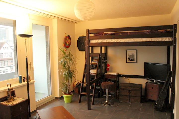 Small & bright apartment close to Central Place - Biel/Bienne - Apartament