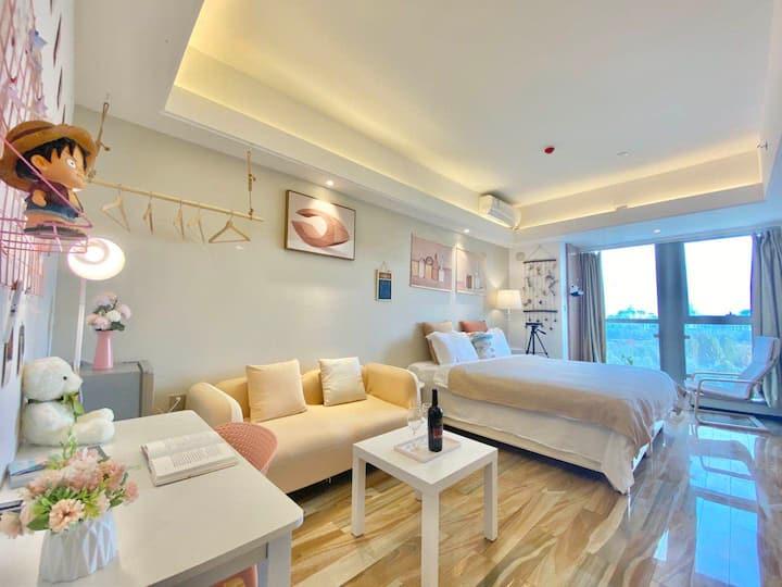 子墨-宜家高弹床垫/大屏投影/做饭/书桌/舒适大床房