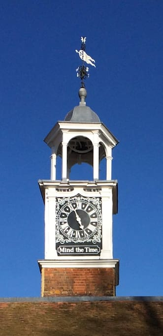 Quirky clock tower