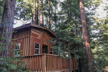 Cabin at Juju Paradise:Santa Cruz Redwoods Retreat