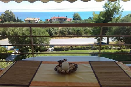 Cute apartment by the sea and the mountain - Moles Kalives - Flat