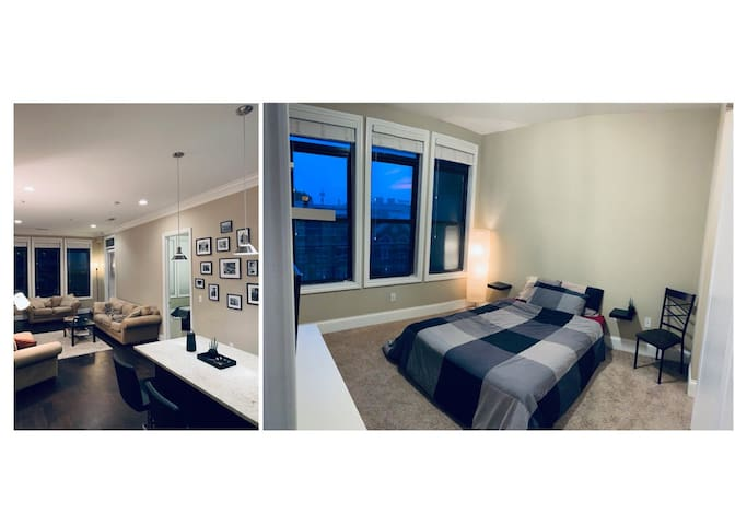 Spacious Bedroom with Queen Bed & Private Bathroom