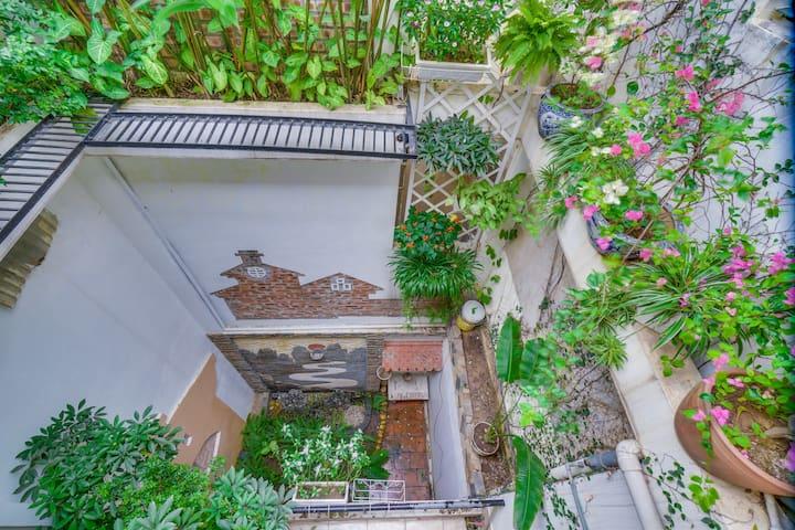 Beautiful garden in front of your room