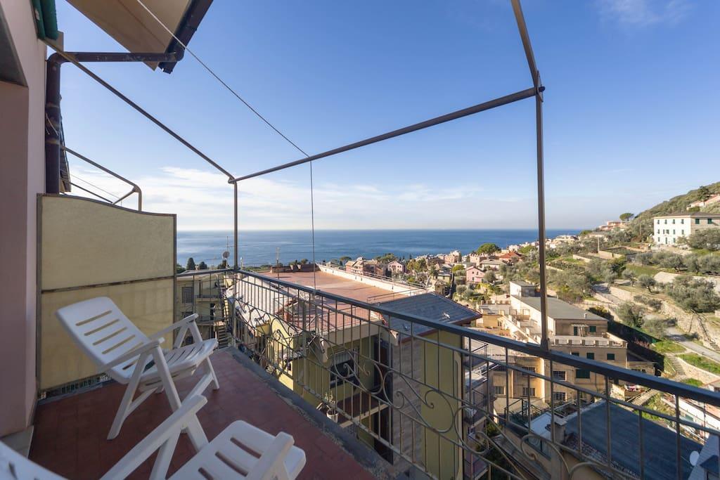 terrazza con vista mare