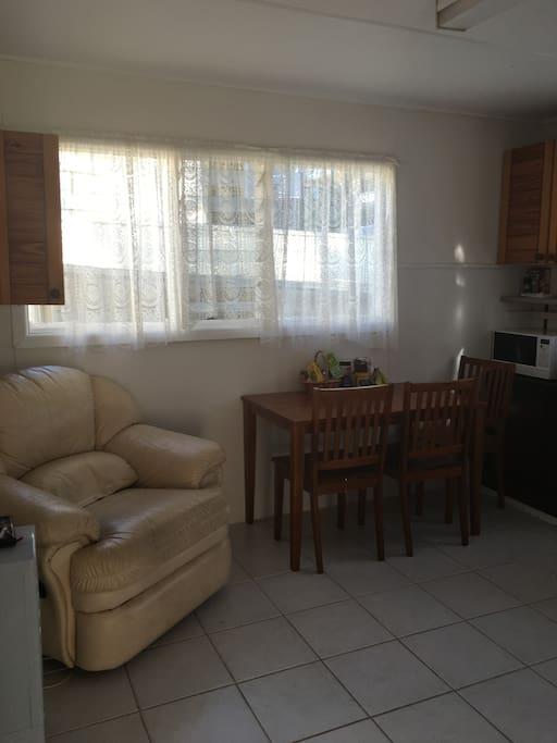 common area/kitchen/dining