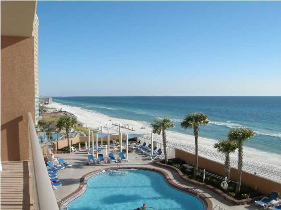 East Side Pool & Gulf View from Balcony