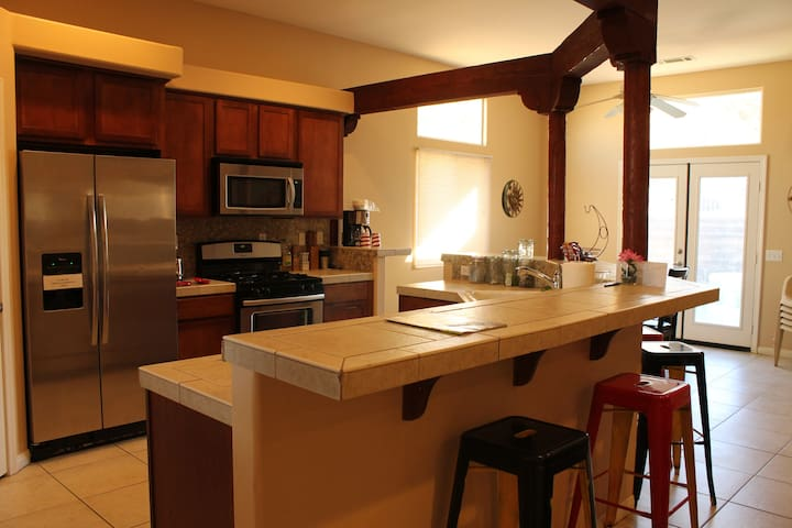 The Cantina features all new stainless steel appliances and it's fully equipped to serve any gourmet meal.
