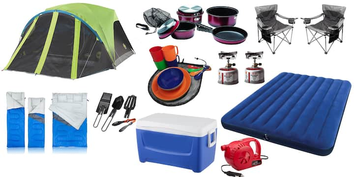 Complete camping gear rental!