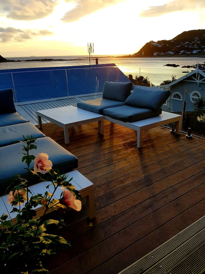 Spa deck to enjoy views with morning coffee or evening wine