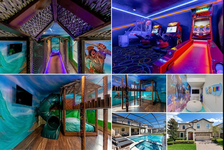 """Hei Hei Villa"" - Treehouse Room, Arcade, Pool/Spa"