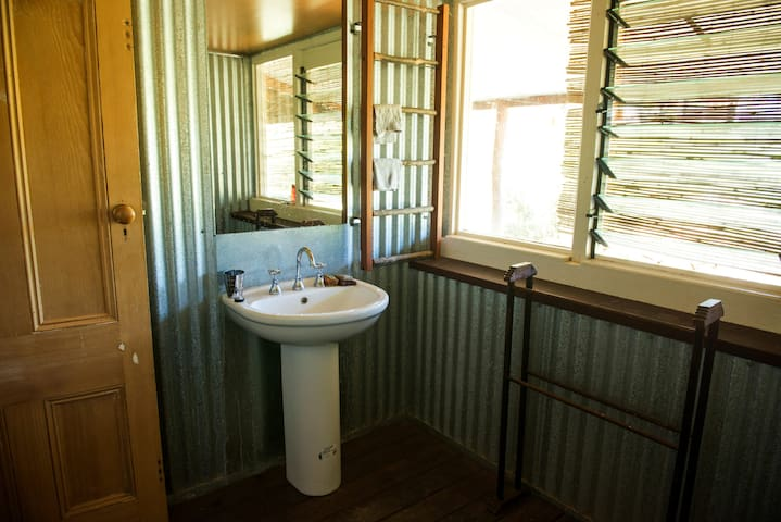 One of the shared bathrooms in our guest house.