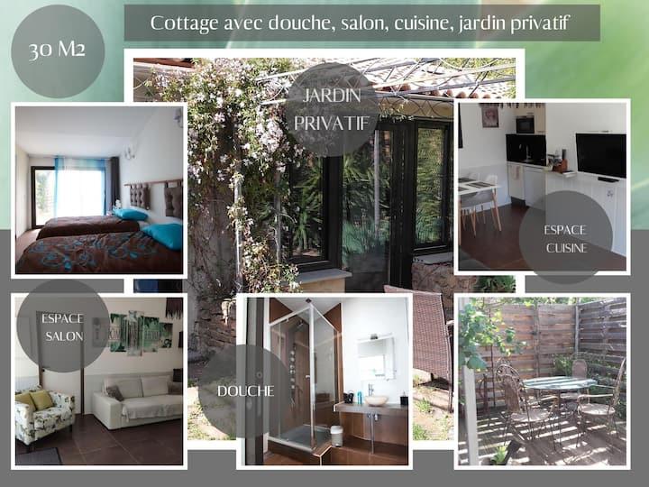 Cottage 1 chambre, douche, extérieur privatif