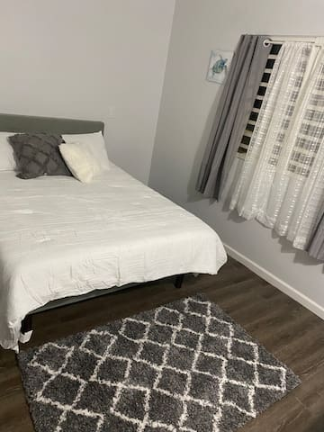 Guest Bedroom with queen sized bed