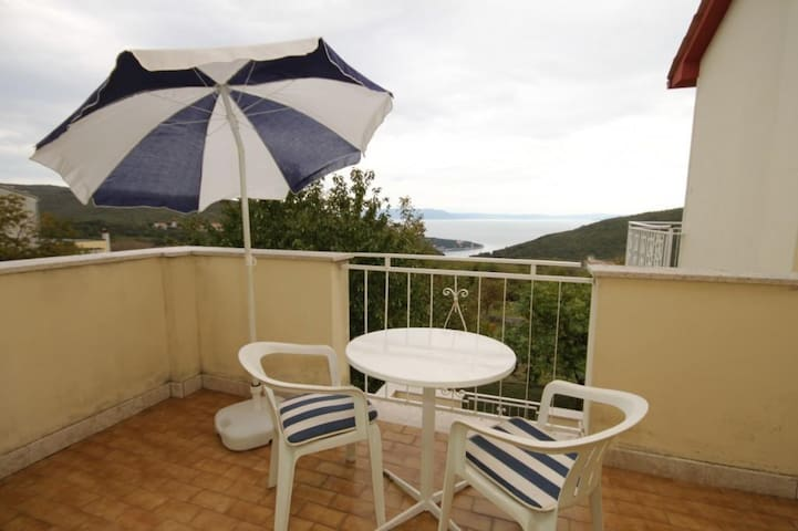 One bedroom apartment with terrace and sea view Labin (A-7468-b)