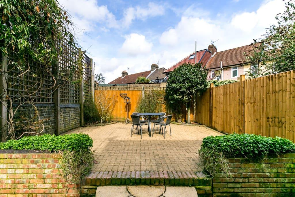 A spacious private garden...
