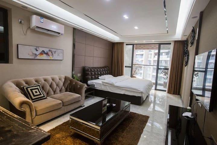 希尔顿国际公寓现代豪华套房【河源市坚基商业中心】