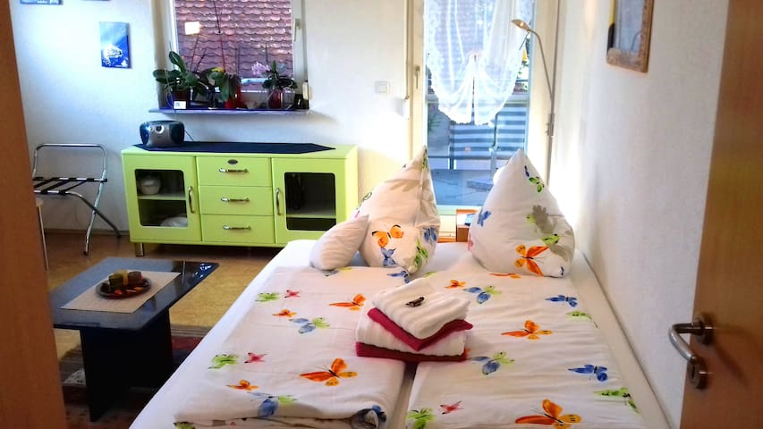 Lovely 23m² room, balcony near Lake Constance