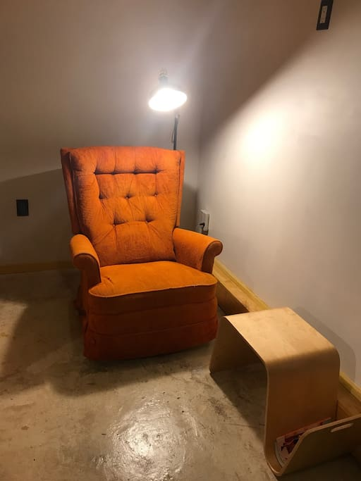 little reading corner with a full recliner