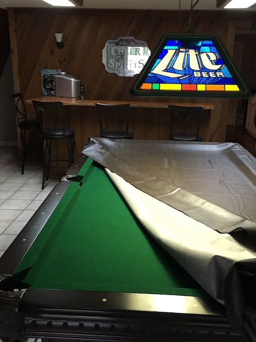 Personal pool table for your enjoyment during your stay!