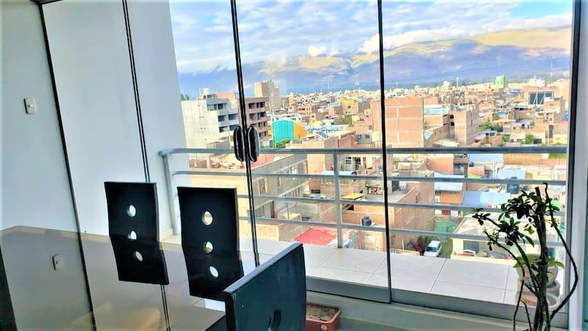 Moderno Departamento Amoblado Huancayo c/ WIFI x7