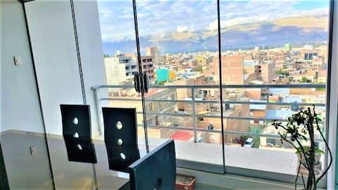 3hab - Moderno Departamento amoblado WIFI x7p