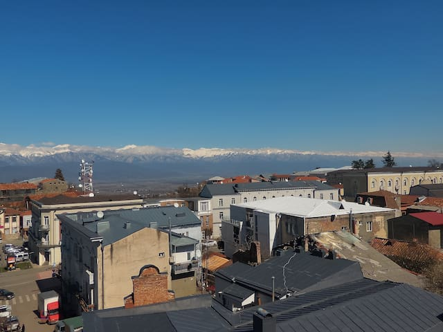 Great view of Caucasus Mountains