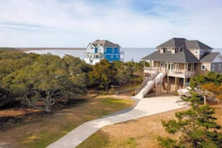 Sound Front home, with private Ocean beach access