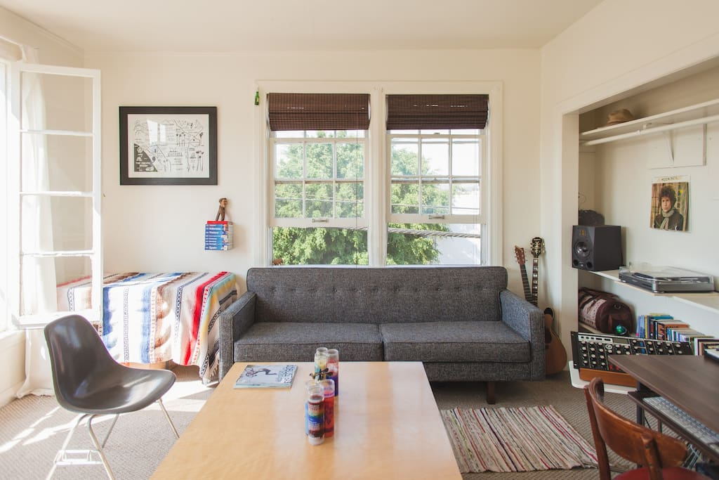 Living Room. Lots of windows and beautiful natural light!