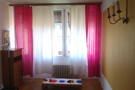 This beautiful bright spacious room is part of a two bedroom sunny apartment located perfectly 5 min walk from the main square, the main bus and rail station and the stunning Tivoli park. LGBT+ friendly. New listing so price still low. Book quick!